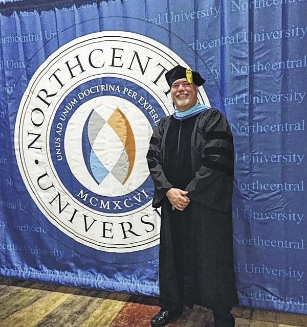 Franklin Edward (Eddie) Shoemaker, 1978 graduate of Miami Trace High School, graduated from Northcentral University with a Doctorate of Philosophy in Psychology in Phoenix, Ariz. on July 9.