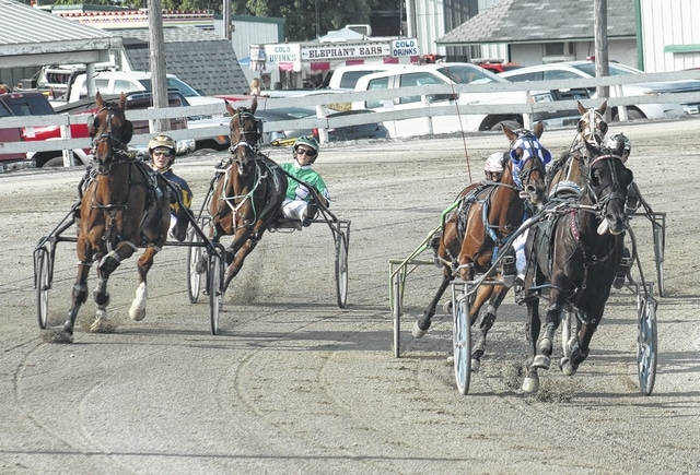 Harness racing continues Saturday at noon at the Fayette County Fair. There will be 14 races on the card, finishing with the annual Fayette County Classic.