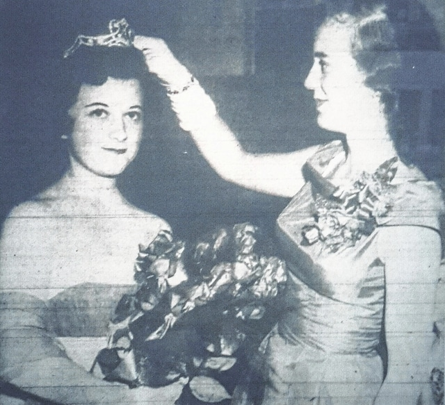 "According to the July 22, 1958 edition of the ""Washington C.H. Record-Herald,"" Jean Persinger was crowned as the Fayette County Fair Queen by the 1957 Fair Queen Mrs. John Scott."