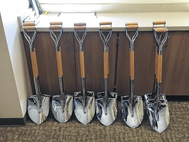 The shovels are all shined up and ready to go for the new Miami Trace High School groundbreaking ceremony.