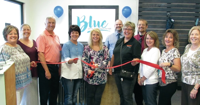 "A grand opening ribbon-cutting was held Monday morning at the new ""Blue: Second-hand Fashions for Her"" boutique in Washington Court House. Featuring trendy and many name-brand fashions for women, it's the first of its kind in the lineup of stores in the eight-county territory of Goodwill Industries of South Central Ohio. Blue is located at 1377 Leesburg Ave., across from the entrance to the Fayette County Fairgrounds. Pictured at the ribbon-cutting are: Fayette Chamber of Commerce President Whitney Gentry, Mekia Rhoades, Goodwill Executive Director Marvin Jones, WCH Goodwill manager Toni Copas, assistant manager Bethany Ogden, Goodwill Retail Coordinator Jerrod DePugh, Colleen Roundhouse, Goodwill Marketing Coordinator Joe Parker, Julie Bolender, Kathy Patterson, and Ruth Ann Ruth."