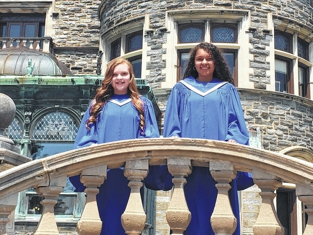 "Brooklynn Stanley and Jocelyn Trimmer were the only two girls from the state of Ohio selected to attend the ""Let Freedom SING!"" Girlchoir National Convention in Philadelphia."
