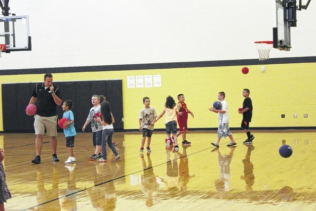 Miami Trace Elementary students could be seen Monday afternoon in the gymnasium burning off extra energy. Miami Trace Local Schools started the 2016-17 school year on Monday with students returning to the classrooms in most buildings.