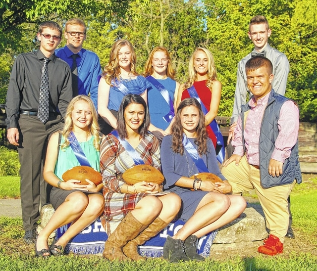 Washington High School's homecoming court was introduced Wednesday at Gardner Park. Front row (left to right): Homecoming king candidate Weston Smith, homecoming queen candidates Taylor Hurles, Jazzy Robinette, Sarah Snyder and homecoming king candidate Jake Waters. Back row (L to R): Homecoming king candidate Trevor Hicks, freshman attendant Halli Wall, sophomore attendant Tabby Woods, junior attendant Kiersten Wilson and homecoming king candidate Levi Davis. The queen and king will be announced this weekend.