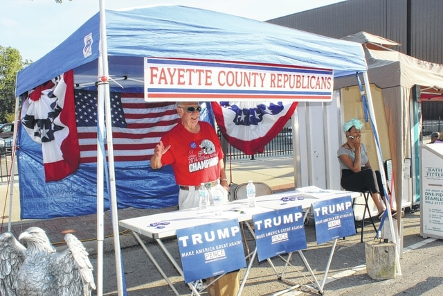 The 2016 Scarecrow Festival marked the return of the event to the county, which began on Friday and continued through Sunday. The Fayette County Republicans could be seen all weekend.