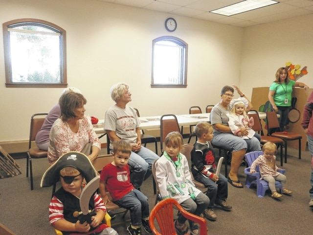 "Miss Bonnie's Story Hour at Jeffersonville Branch Library was the place to be this week. There was a ""Dress Up Day,"" and participants read ""Old MacDonald Had a Truck,"" which was a hit."
