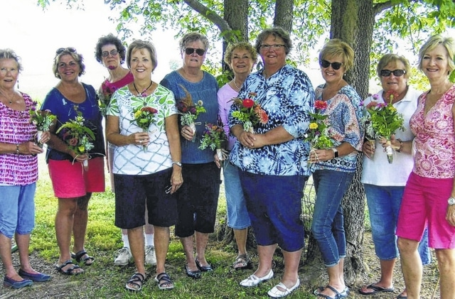 The Deer Creek Daisies recently took a garden field trip. Pictured (L to R): Connie Lindsey, Shirley Pettit, Barbara Vance, Rita Lanman, Judy Gentry, Marty Cook, Joyce Schlister, Billie Lanman, Kendra Knecht and Emily King.