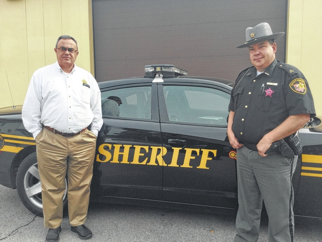 Fayette County Sheriff Vernon Stanforth (left) and Sgt. Chuck Kyle (right).