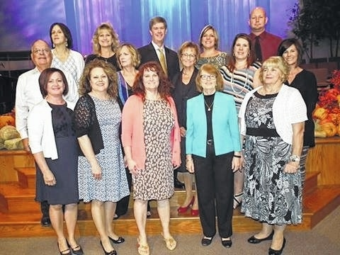 LIFE Pregnancy Center board of directors and staff with the guest speaker at 2016 Fundraising Banquet. Pictured left to right - first row - Shawn Lachat, Diane Faris Munro, Mandy Findley, Patty Griffiths, Helen Sharp; second row - Larry Schriver, Karla Redding, Patti Cox, Shena Weade; third row - Colleen Coole, Barbara Fox, Kirk Walden, Suzie Janasov, and Heath Johnson. Not pictured - Carol West.