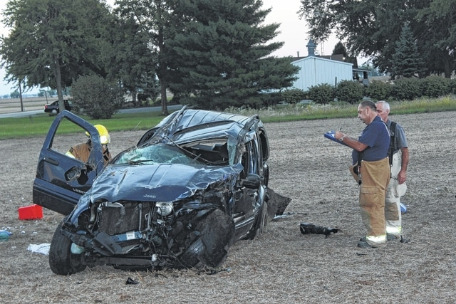 A two-vehicle accident at the intersection of Snowhill Road and Greenfield-Sabina Road left two dead at the scene. The Fayette County Sheriff's Office Crash Reconstruction Unit and members of the Concord-Green Township Volunteer Fire Department worked to figure out what occurred during the accident.