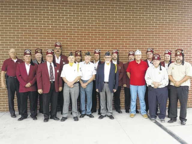 Members of the Washington Shrine Club took a photo with American Legion Post 25 representatives commander David Frederick, finance officer Paul Sands, and service officer Eddie Fisher as well as John Mason, commander of AmVets, recently to promote their upcoming free dinner for service men and women on Veteran's Day, Friday, Nov. 11. Dinners for non-vets are $7 and will be held at the American Legion Post 25.