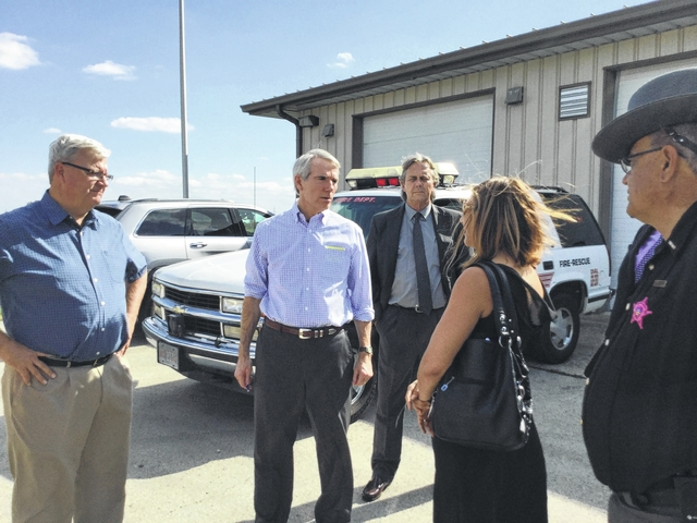 Ohio Sen. Rob Portman visited Washington C.H. Tuesday to tour the proposed site for a men's residential treatment facility on Robinson Road.
