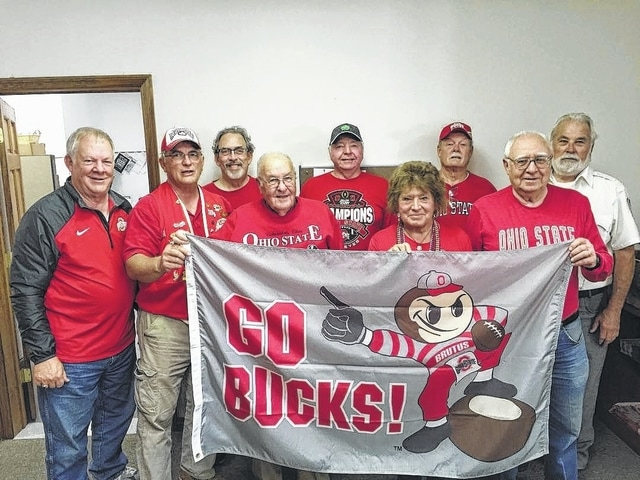 """Fred Radabaugh won the Lions Club raffle on Friday at the Record-Herald office and will receive two tickets to the Ohio State-Michigan game on Saturday, Nov. 26. Great tailgate food and Buckeye entertainment will be featured in the Mahan Building on Friday, Nov. 25 at 6 p.m., the night before the Big Game. Trevor Zahara, 18-year usher at Ohio Stadium and author of """"Confessions of an OSU Usher,"""" will be the featured speaker. There will be live and silent auctions of many Buckeye items and a raffle with four prizes including two tickets to the game. Ask any Washington or Jeffersonville Lions Club member for tickets or call 740-335-4588. Dinner tickets are only $20 each and raffle tickets are $5 each or five for $20. Proceeds go to local food pantries and Lions sight saving programs."""