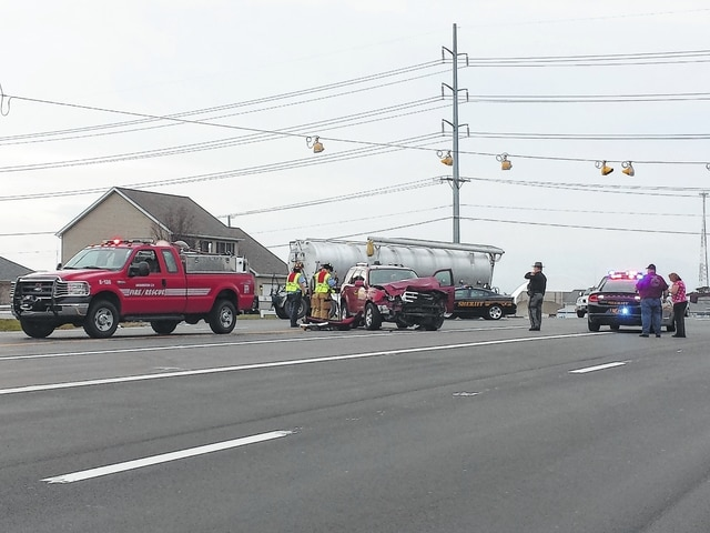 Minor injuries were reported by the Fayette County Sheriff's Office from a two-vehicle accident Monday afternoon at the intersection of U.S. Route 22 and Jamison Road. The Washington Fire Department assisted at the scene.