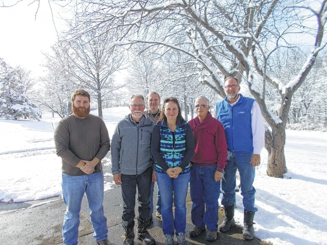 Six individuals recently participated in the Fayette County Bird Count. From left to right, Malcolm Miller, Peter Torgerson, Brad Roberts, Brigitte Hisey, Don Creamer and Bruce Willis.