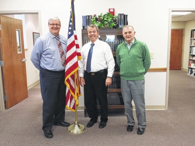Commissioner Dan Dean (left) was named the new chairman during the Monday meeting of the Fayette County Commissioners. Commissioner Jack DeWeese (right) was named the co-chair. Also pictured is commissioner Tony Anderson.