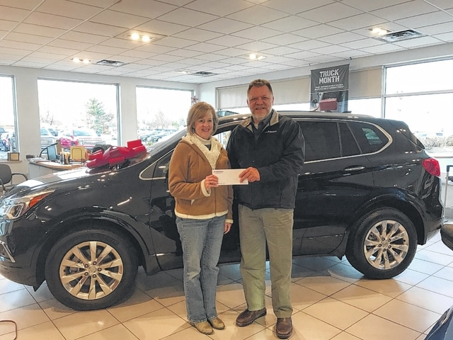 Sue Smith was recently the winner of the 12 Days of Giving prize sponsored by Mark Bottorff of Gusweiler GM Center.