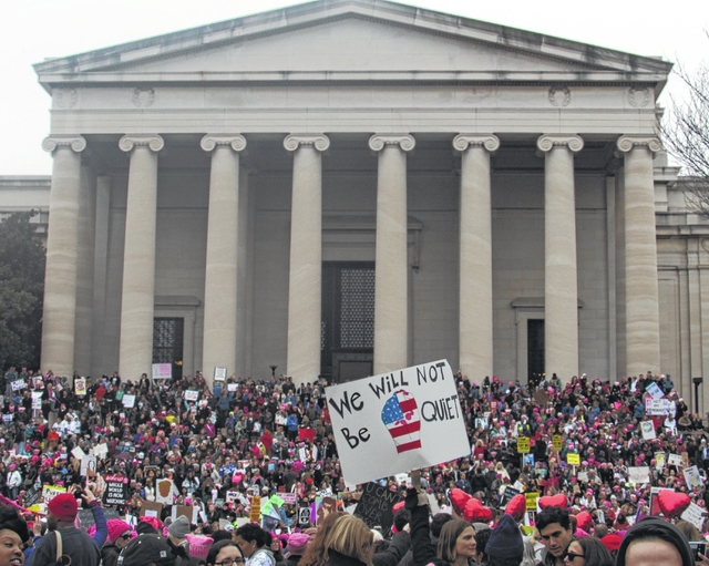 The Women's March on Washington Saturday reportedly had an estimated 500,000 people in attendance.