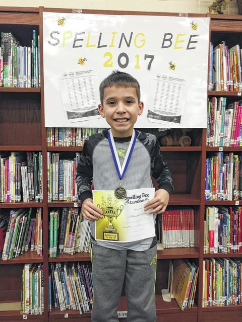 Jeremiah Delarwelle, a fifth grader, was declared the Belle Aire Spelling Bee champion.