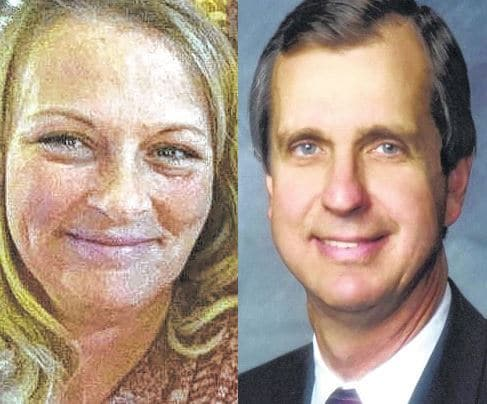 Susan Wollscheid and Judge Victor Pontious are both candidates in this year's primary for municipal court judge.