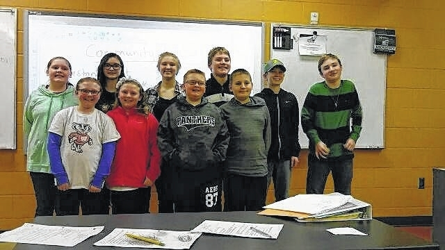 Pictured are the officers of Fayette Farm Life 4-H Club: Back row (l-r): Jenna Goddard, Emma See, Haylee Anders, Bryce Bennett, Todd Ford, and Drew Black. Front row (l-r) Annabelle Eggleton, Emma Eggleton, Jonah Goddard, and Caleb Bennett.