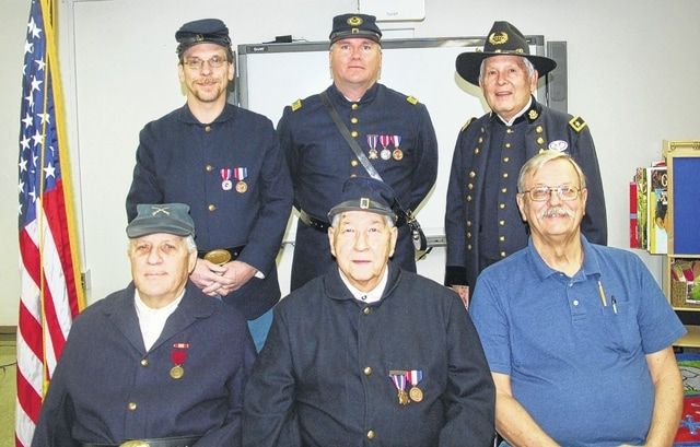 Henry Casey Camp No. 92 Sons of Union Veterans of the Civil War has elected and installed officers for the year 2017. Pictured left to right (front row) Terry Thevenin, senior vice commander; Terry Cochren, camp commander; Joe Daugherty, junior vice commander; back row (left to right) Shawn A. Cox, historian; Shane Milburn, chaplain; and Robert E. Grim, camp treasurer.