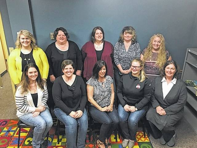 The Fayette County Help Me Grow program: Front row, left to right,Beth King, Liz Liston, Laura Miller, Megan McCune and Sharon Gibbs; Back row, left to right, Sara Randolph, Jackie Lewis, Amy Streitenberger, Melissa Smith and Shawna Chace.