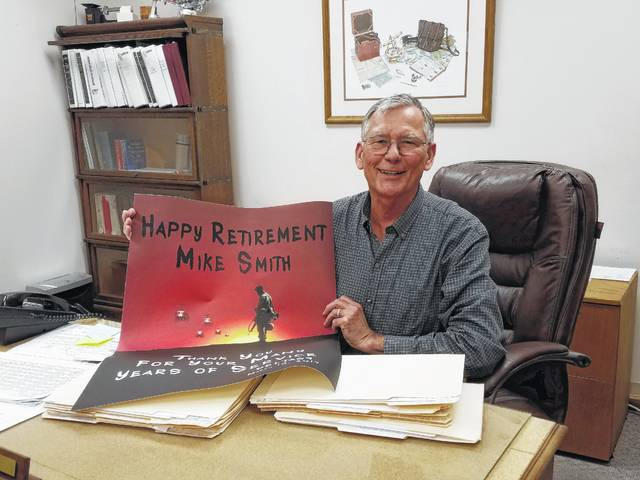 Fayette County Auditor Mike Smith had his final day in office on Friday after serving the community for 10 years in the position.