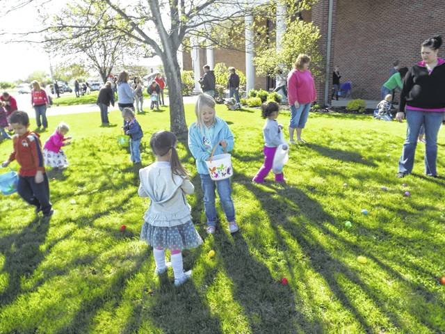 Heritage Memorial Church will present the 10th-annual EGGSTRAVAGANZA on Saturday, April 15, starting at 10:30 a.m. Egg hunts are set up by age groups for walking toddlers through the sixth grade, including a special location for children with special needs. Prior to the hunt enjoy a high energy fairy tale character program, then after the hunt the fun continues with food, bounce houses, corn hole, and an obstacle course. Photo opportunities are available throughout the campus, and a free gift will be provided to every child. This event is absolutely FREE, and every child from walking toddlers through sixth grade are welcome! Call 740-335-1079 for further information.
