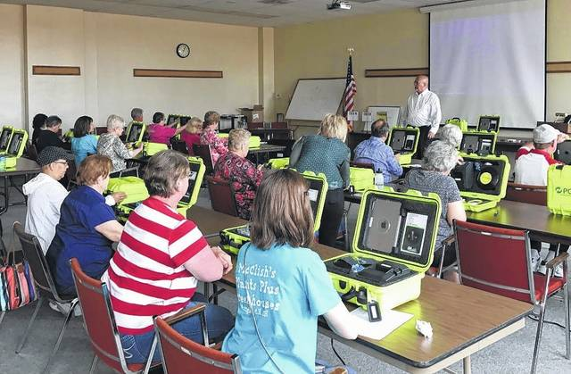 Fayette County Board of Elections poll workers were recently trained using the new electronic polls books, which will debut at the May 2 primary/special election.