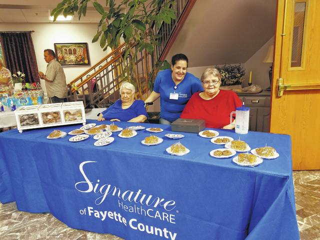 The 27th-annual Fayette County Health Fair and Family Fun Day was held Saturday at Grace Community Church. Signature HealthCARE of Fayette County sold delicious desserts near the front door.