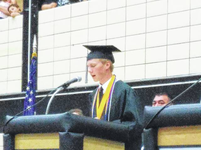 Salutatorian Todd Peterson