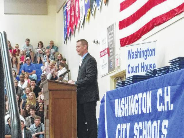 Ryan Day, a teacher at Washington High School was selected by the class of 2017 to speak at the commencement ceremony Sunday.