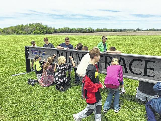Miami Trace staff and students have been given a unique opportunity this week to sign their names to steel beams that will become part of the new school.