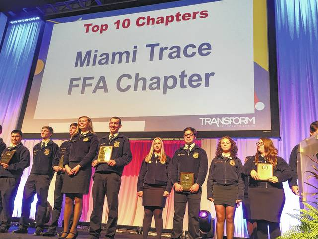 The Miami Trace FFA Chapter was recognized as a Top 10 Chapter in the state of Ohio.
