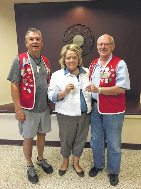 The Fayette County Commission on Aging was pleased to recently accept a generous donation from the New Holland Lions Club. Pictured (L to R): Marty Mace, New Holland Lions Club president; Lori Bach, Commission on Aging assistant director; and Paul Edgington, New Holland Lions Club treasurer.