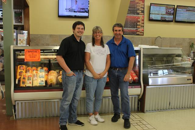 The Winner family took ownership of Detty's Market Tuesday. From left to right: Cole, Jackie and Brad Winner.