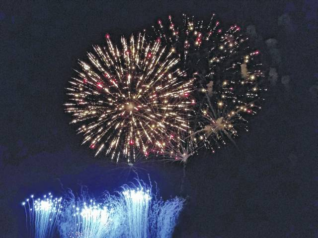Fayette County celebrated the Fourth of July with fireworks displays, bonfires, parades, parties and more. This firework display was part of Fire In The Sky from Monday night. Check inside for more coverage of the county's Fourth of July celebrations.