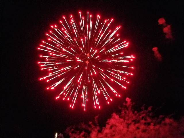 The 2017 Fire In The Sky fireworks display was held on Monday night at the fairgrounds for Fayette County to enjoy.