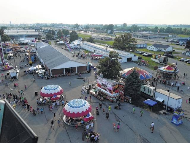 The Fayette County Fair was packed Thursday evening with patrons enjoying the many rides, games and food that were offered. Taken from the Ferris Wheel, the Mahan Building, food booths and so many other attractions could be seen, as well as an impressive view of Washington Court House.
