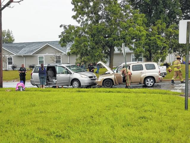 Four were injured in a three-vehicle accident Thursday at the intersection of Rawling and Delaware streets.
