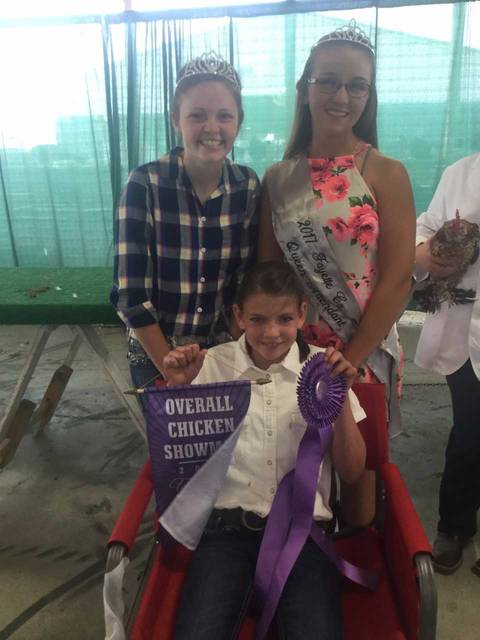 Addyson Butts was awarded overall chicken showman at the 2017 Fayette County Junior Fair.