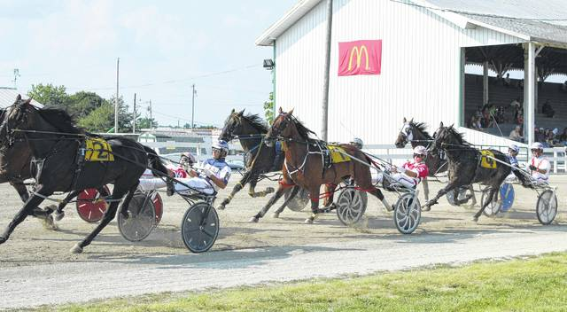 There will be 14 races at the fair Saturday, beginning at noon. The D.E. Mossbarger Fayette County Classic will be the eighth race of the day.