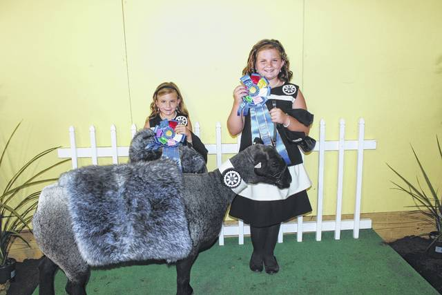 The Fayette County Guys & Gals Sheep Lead was held Monday evening at the sales arena on the fairgrounds. Peyton and Karlee Johnson took first place in the Pairs Class, sponsored by the Fayette County Agricultural Society.