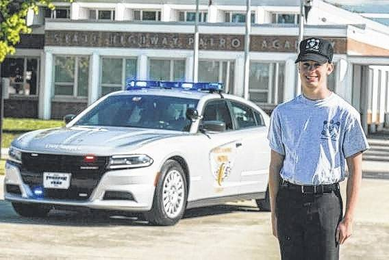 Spencer Minyo recently completed training for the Ohio State Highway Patrol's Junior Cadet Program.