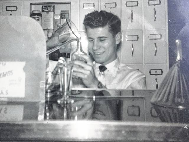 A photo of a young Verne Haugen.