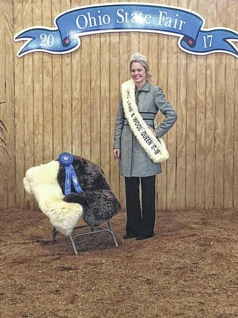 Courtney Hagler, was crowned the 2017/18 Ohio Lamb and Wool Queen Sunday, July 30 at the Ohio State Fair. She was crowned queen and then participated in the Ladies Lead and placed first in her age division. Courtney is a college grad student with her associate degree in agriculture production from SSCC and will be enrolled this fall to continue her education as a register vet tech. This fall and winter she will be traveling around Ohio to support the wool industry and participating in other county fairs along with open lamb shows.