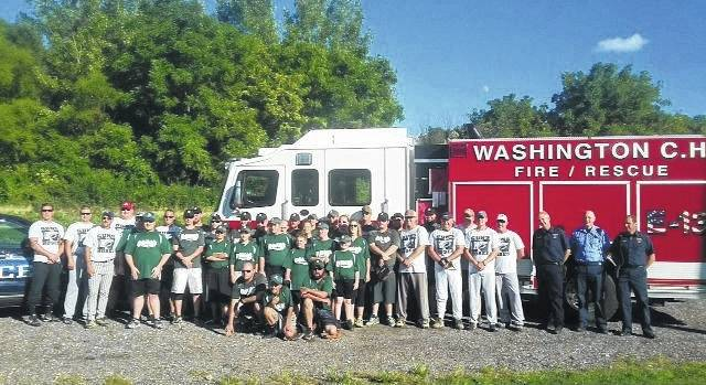 From last year, the Fayette County Dragons took on the Guns-N-Hoses team (local police and fire departments) in a softball game Sunday, Sept. 11, 2016.