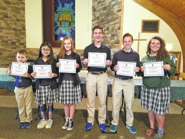 Students at Fayette Christian School participated in the AMVETS Department of Ohio Americanism Contest. Several of the students placed well at both the district and state levels.