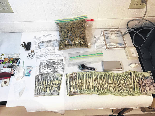 Drugs, cash and paraphernalia were found inside the residence at 1117 Yeoman St. in Washington C.H. Tuesday morning.